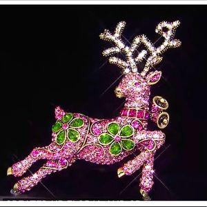 """HEIDI DAUS """"Pretty Prancer"""" Reindeer Brooch Pin"""